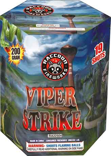 RA22504 Vipers Strike 200 Gram 19 Shots Hexagon Cake