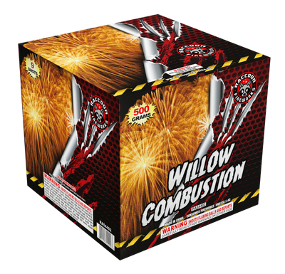 RA54402 Willow Combustion 500 Gram 9 Shots Cake